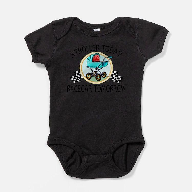 Cute Checkered flag Baby Bodysuit