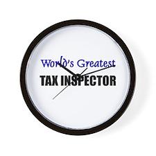 Worlds Greatest TAX INSPECTOR Wall Clock