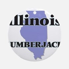Illinois Lumberjack Round Ornament