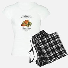 Modern vintage fall gourds and pumpkin Pajamas