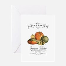 Modern vintage fall gourds and pumpkin Greeting Ca
