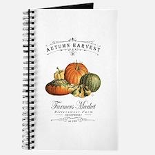Modern vintage fall gourds and pumpkin Journal
