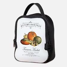 Modern vintage fall gourds and pumpkin Neoprene Lu