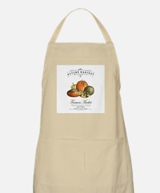 Modern vintage fall gourds and pumpkin Apron