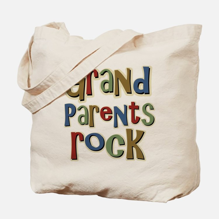 Grandparents Rock Day Holiday Tote Bag
