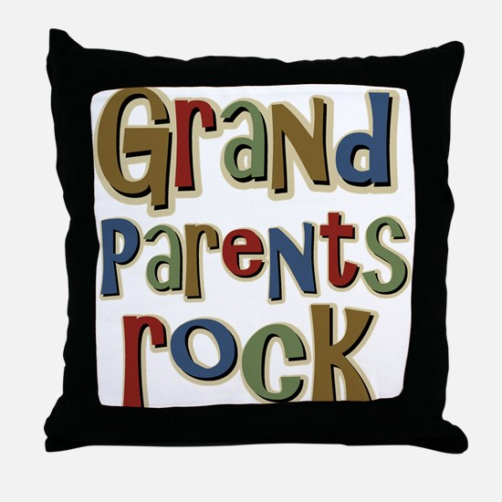 Grandparents Rock Day Holiday Throw Pillow