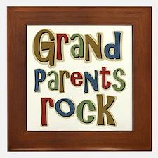 Grandparents Rock Day Holiday Framed Tile