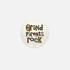 Grandparents Rock Day Holiday Mini Button (10 pack