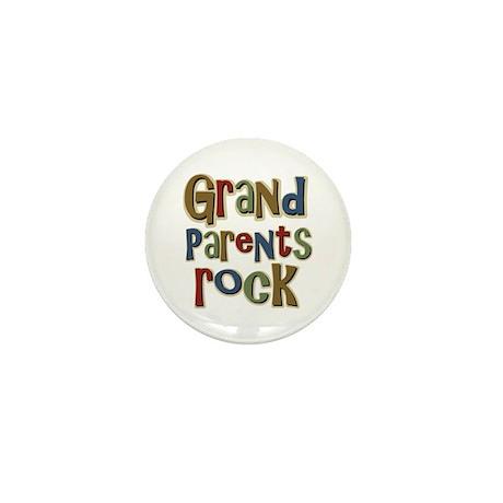 Grandparents Rock Day Holiday Mini Button