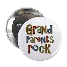 """Grandparents Rock Day Holiday 2.25"""" Button (100 pa"""