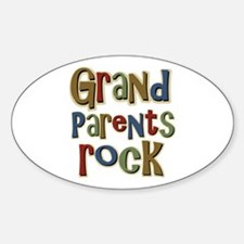 Grandparents Rock Day Holiday Oval Decal