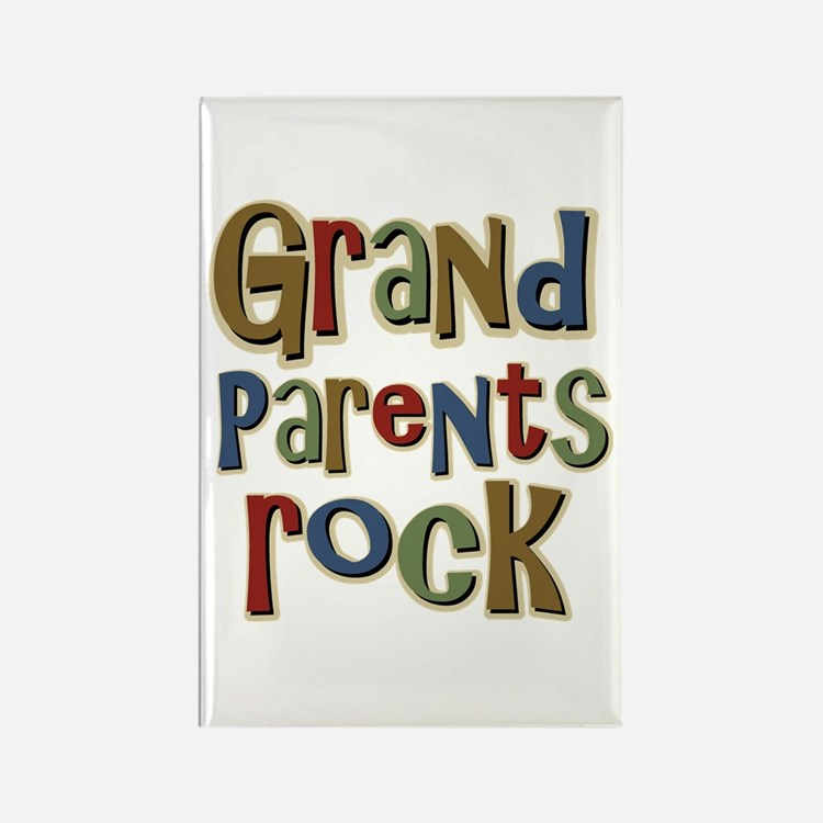 Grandparents Rock Day Holiday Rectangle Magnet (10
