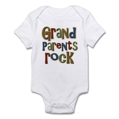 Grandparents Rock Day Holiday Infant Bodysuit