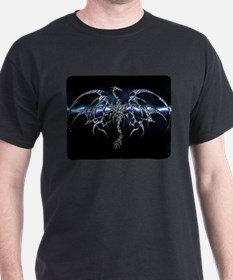 Blue Dragon on Lightning Sky T-Shirt