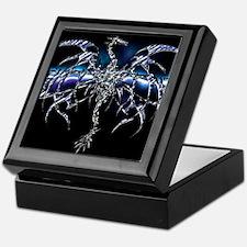 Blue Dragon on Lightning Sky Keepsake Box