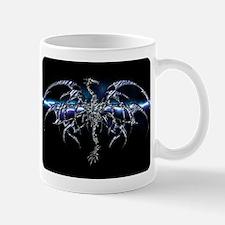 Blue Dragon on Lightning Sky Mugs