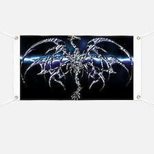 Blue Dragon on Lightning Sky Banner