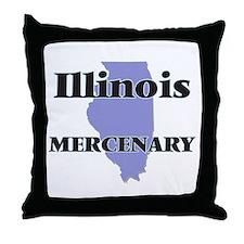 Illinois Mercenary Throw Pillow
