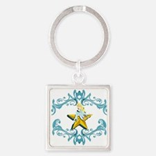 Blue Fairy on Yellow Star Keychains