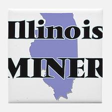 Illinois Miner Tile Coaster