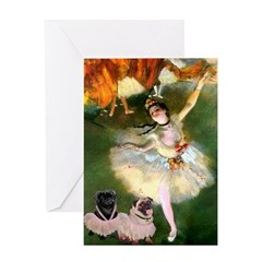 Dancer / 2 Pugs Greeting Card