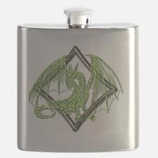 Green Dragon on Diamond Flask