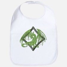 Green Dragon on Diamond Bib