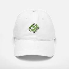 Green Dragon on Diamond Baseball Baseball Cap