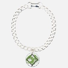 Green Dragon on Diamond Bracelet