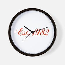 1982 Wall Clock