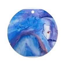 Rumi Darkling Round Ornament