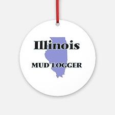 Illinois Mud Logger Round Ornament