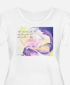 Rumi Wrapped In Morning Plus Size T-Shirt