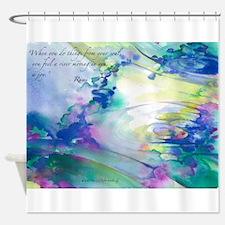 Rumi Spring Water Shower Curtain