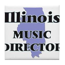 Illinois Music Director Tile Coaster