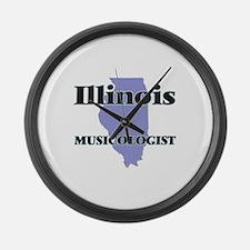 Illinois Musicologist Large Wall Clock