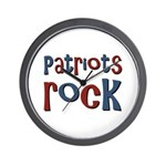 Patriots Patriot Day Rocks Wall Clock
