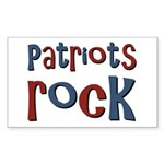 Patriots Patriot Day Rocks Rectangle Sticker