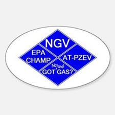 CNG NGV Oval Decal