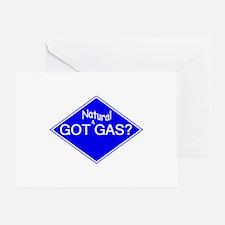 Cute Natural gas vehicle Greeting Card