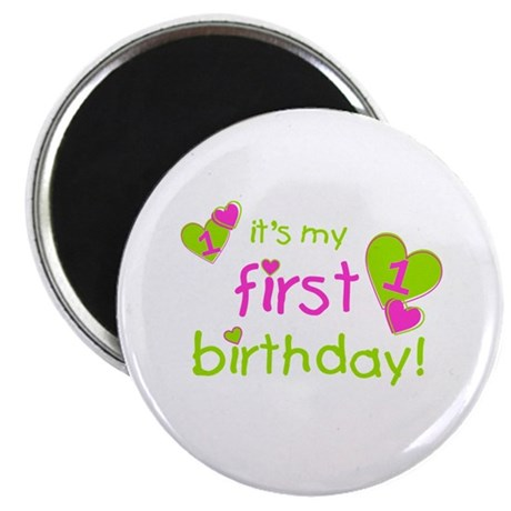it's my first birthday Magnet