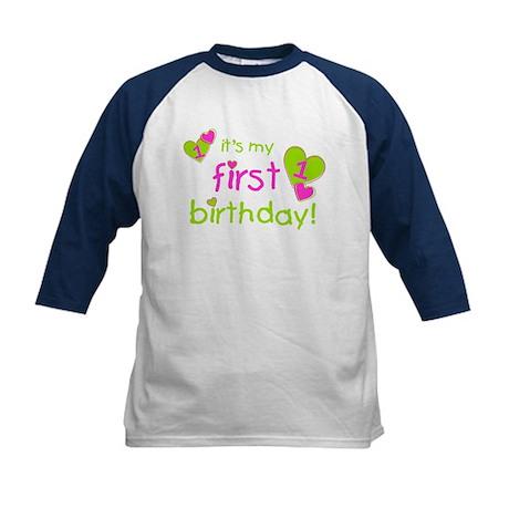 it's my first birthday Kids Baseball Jersey