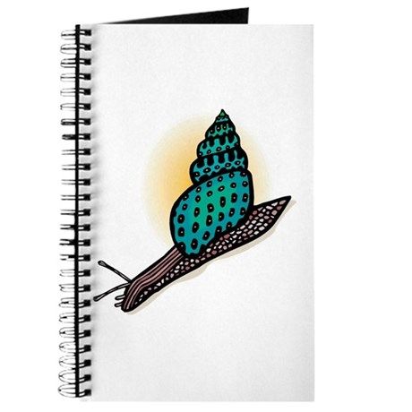 Pretty Turquoise Snail Journal