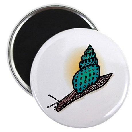 """Pretty Turquoise Snail 2.25"""" Magnet (10 pack)"""