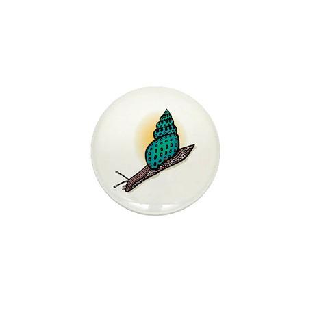 Pretty Turquoise Snail Mini Button (100 pack)