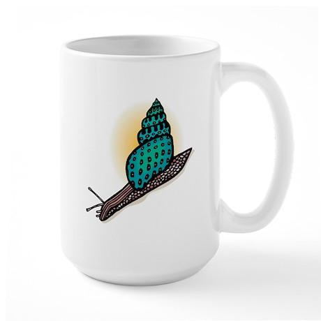 Pretty Turquoise Snail Large Mug