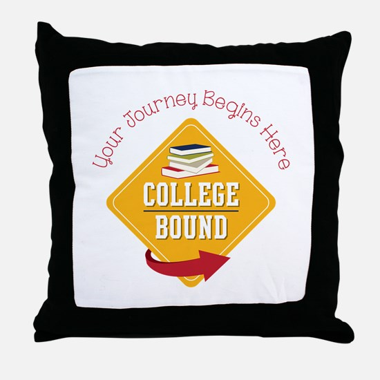 Journey Begins Throw Pillow