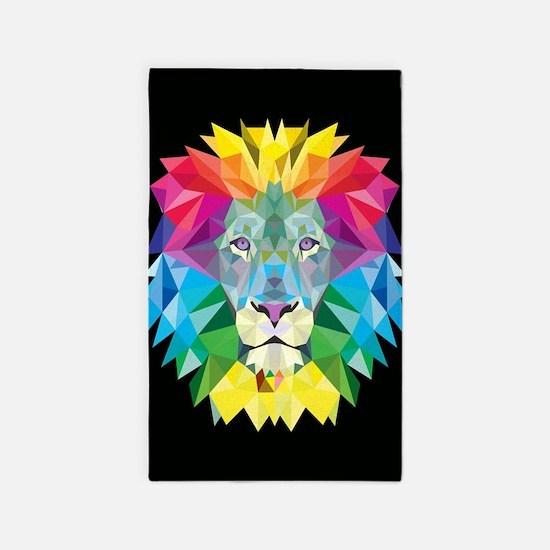 Rainbow Lion Area Rug