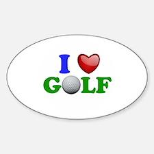 I Heart Golf Decal