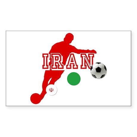 Iran Football Player Sticker (Rectangle)